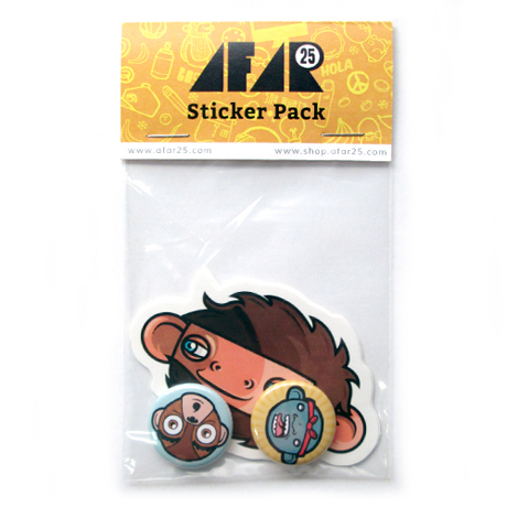 Afar25 sticker pack